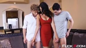 Group, Banging, Cock, 3 some, Pornstar, Big cock, High definition
