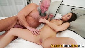 Fucking, Legs, Hardcore, Old and young, Grandfather, Beautiful, Brunette