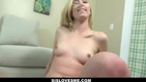 Cock, Cumshot, Pov, Blonde, Not brother, Workout, Small tits